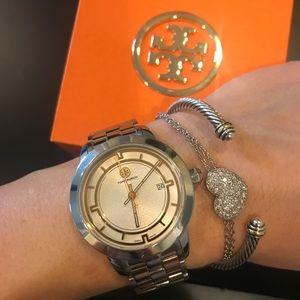 Two Tone (silver & gold) Tory Burch Watch